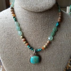 Barse Sterling Silver & Turquoise Pendant Necklace